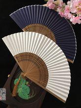 韩国风空白扇子宣纸空白扇6寸折扇子diy扇写字小纸扇绘画扇书法扇