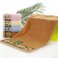 Towel Bamboo fiber wash face towel bamboo charcoal baby child towel small towel better than cotton factory direct shipping