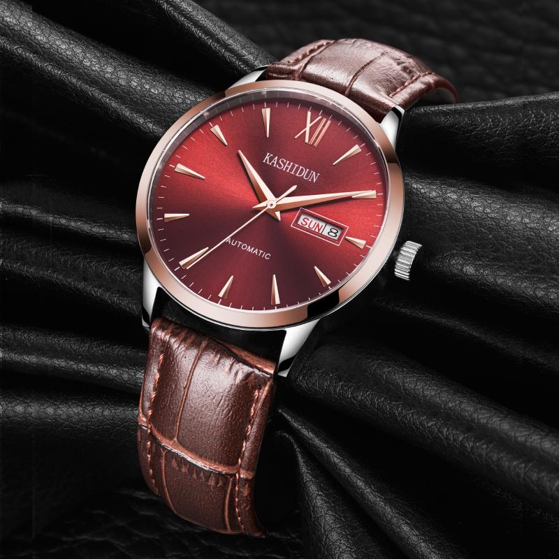 卡诗顿正品全自动手表男机械表男表镂空防水钢带商务腕表皮带表