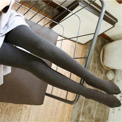 花稚子加绒打底裤女秋冬外穿黑色连脚长裤显瘦棉裤保暖弹力连裤袜