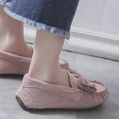 豆豆鞋 2019新款 百搭学生防滑软底真皮孕妇平底单鞋 女春夏季韩版