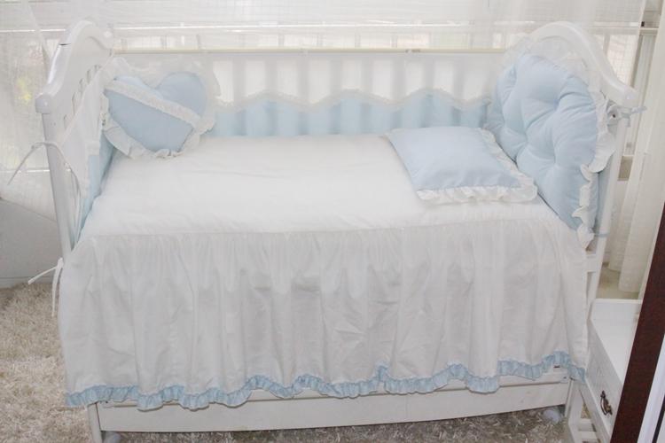 暖苗儿定制宝宝床围四季款无荧光被套被芯床单枕套枕芯褥子多件套