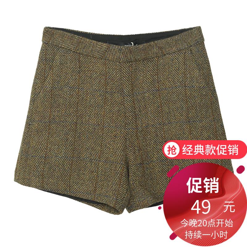 短裤呢料休闲裤