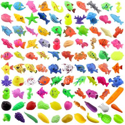 儿童磁性磁铁鱼小猫钓鱼玩具浮水双面立体鱼家庭广场夜市公园钓鱼