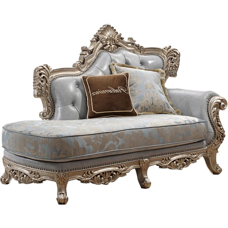 欧式贵妃沙发 简欧皮布组合 法式宫廷美式全实木头层牛皮沙发家具