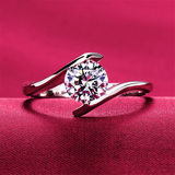 Authentic Pt950 Platinum Mozanstone Diamond Ring Female 18K Platinum Ring Fashion Wedding Ring Ring to Ring Ring