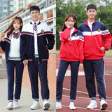 High school students school uniforms suit England College Wind Korean junior high school fall sports baseball uniform class service female