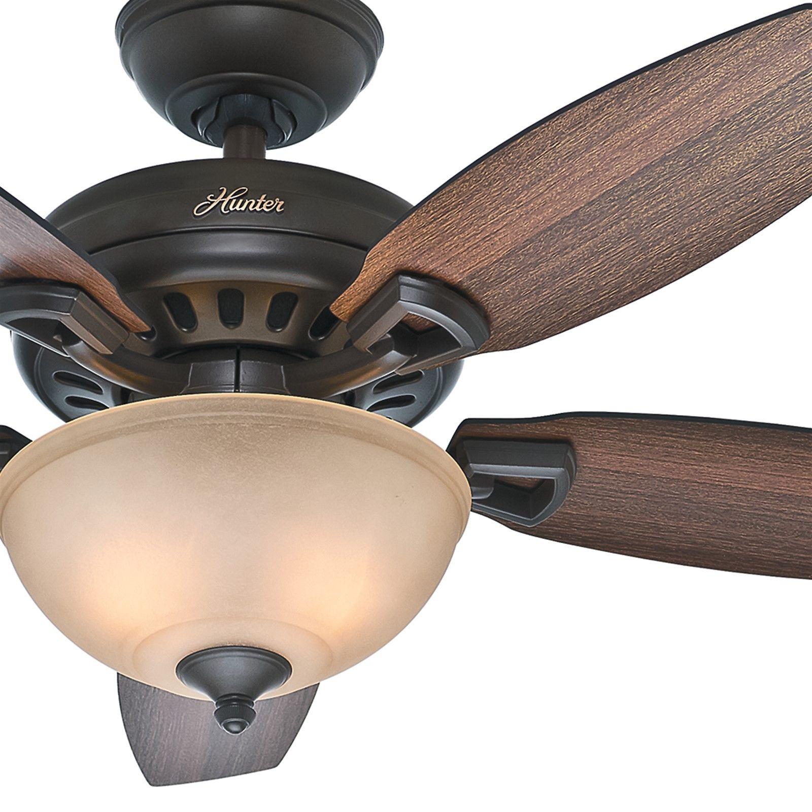 欧美代购 照明风扇 猎人44青铜吊扇灯复古卧室客厅风扇灯装饰
