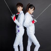 章牌击剑服装套装儿童击剑服三件套花佩剑服350N可参加比赛CE认证