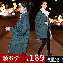 Anti-season Warehouse Clearance 2019 new style double-sided wearing light down jacket on both sides of women's medium and Long-style jacket explosion tide