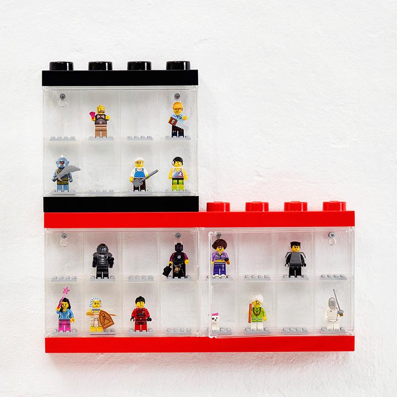乐高积木人仔收藏展示柜收纳盒水晶透明抽抽乐人偶墙防尘盒壁挂式