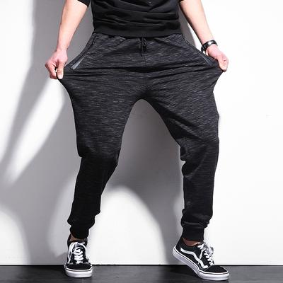 运动裤子男宽松加肥加大大码男裤休闲裤胖子男士卫裤潮胖夏季薄款