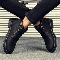 马丁靴男冬季男鞋中帮短靴加绒棉靴雪地靴冬天工装鞋男靴高帮靴子