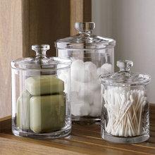加厚欧式玻璃罐储物罐透明糖果罐厨房储藏罐卫浴收纳展示器皿摆件