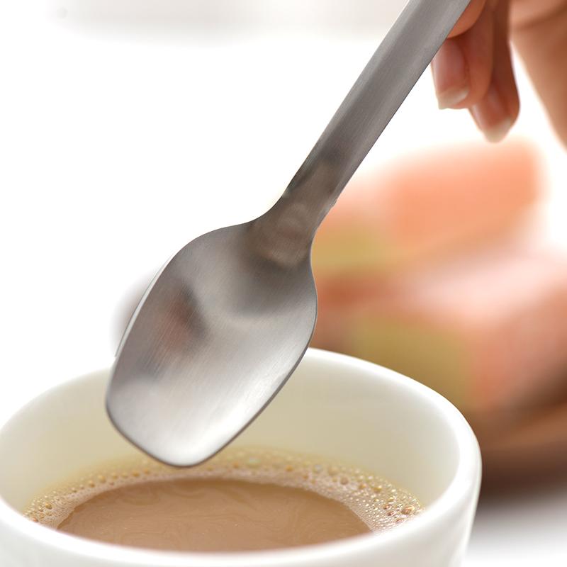 喜诗304不锈钢全方柄冰勺 长柄咖啡勺雪糕冰饮勺甜品勺蜂蜜搅拌勺