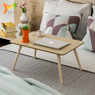 北欧实木腿笔记本电脑桌床上桌飘窗喝茶桌小桌子学生用懒人桌书桌