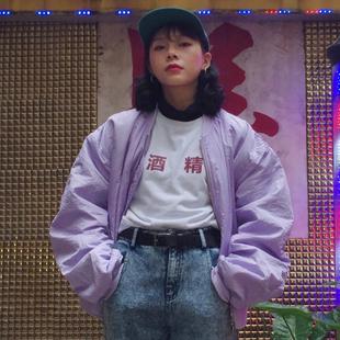 UNSME 重磅独家定制后背刺绣棉服棒球服加厚短款2017秋冬女包邮