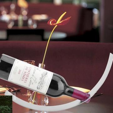包邮创意月牙形不锈钢危险红酒架葡萄酒架吧台无重力酒架创意酒具