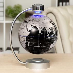 爱贝儿 磁悬浮地球仪发光自转8寸创意工艺礼品书房办公室摆件20cm