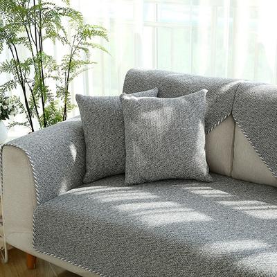 秋冬棉麻沙发垫四季通用简约现代北欧式坐垫布艺防滑沙发巾套定制