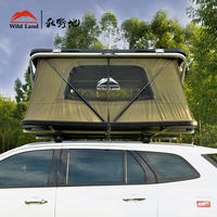 Autumn field Z-type pneumatic roof tent car car tent automatic double-layer hard top shell outdoor self-driving tour
