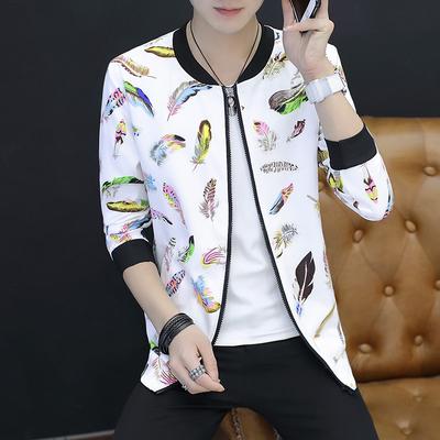 春季开衫棒球服男士韩版修身青少年学生夹克潮男装薄款外套春秋装