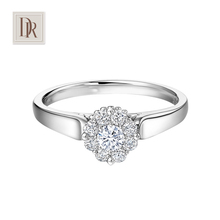 DarryRing求婚結婚正品 專柜鉆石戒指白18K金群鑲捧花定制鉆戒