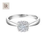DR Darry Ring 求婚结婚钻戒 一克拉效果钻石戒指捧花群镶女
