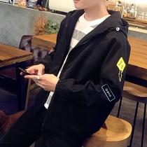 外套男士韩版潮流修身帅气春秋装夹克夏季薄款棒球服百搭运动防晒
