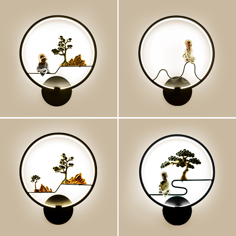 卧室中式壁灯