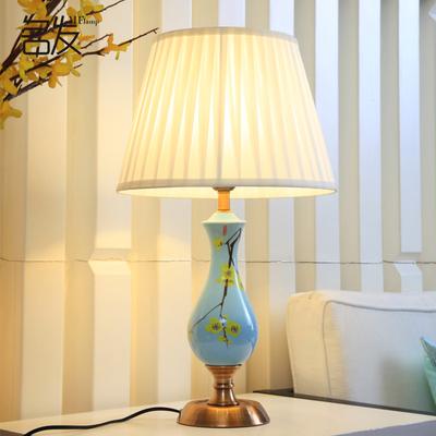 轻奢台灯 卧室客厅家用书房陶瓷床头灯创意浪漫温馨北欧美式婚房