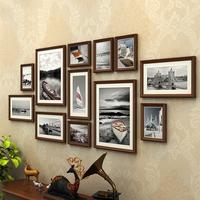 美式客厅照片墙装饰相框墙现代简约公司创意挂墙组合连体挂相片墙