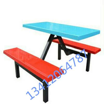 室外一体桌椅超市便利店公共连体桌凳子食堂餐桌椅款式饭堂餐台椅