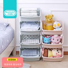 儿童玩具收纳架子宝宝整理架玩具柜幼儿园简易塑料多层置物架
