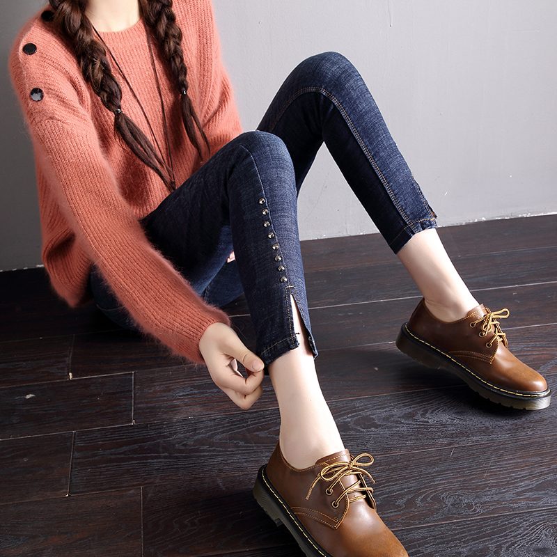 牛仔裤女潮流时尚韩版小脚裤