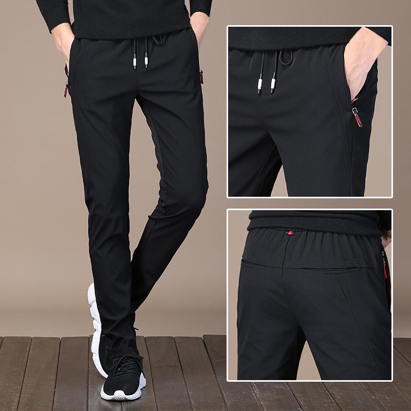 韩版加绒宽松卫裤
