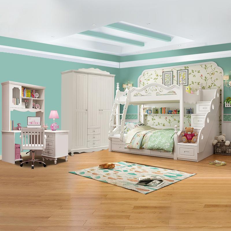 儿童成套家具地中海高低床子母床双层床卧室套房组合B05款