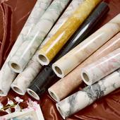 仿大理石纹贴纸自粘厨房卫生间窗台面改造墙纸衣橱柜子桌家具翻新