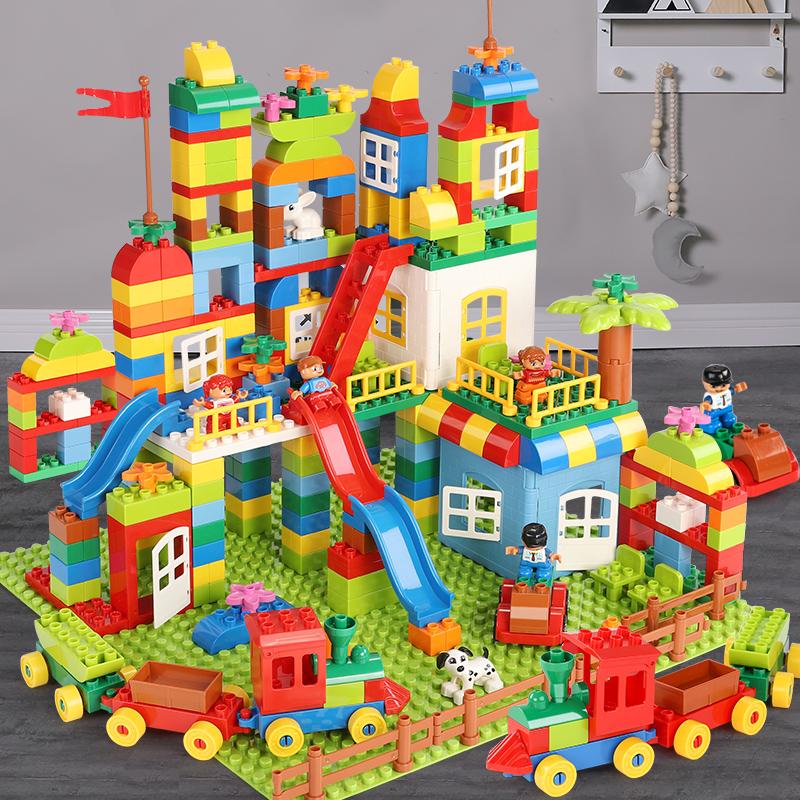 积木拼装玩具益智男孩大颗粒宝宝儿童塑料拼插大号大块智力动脑
