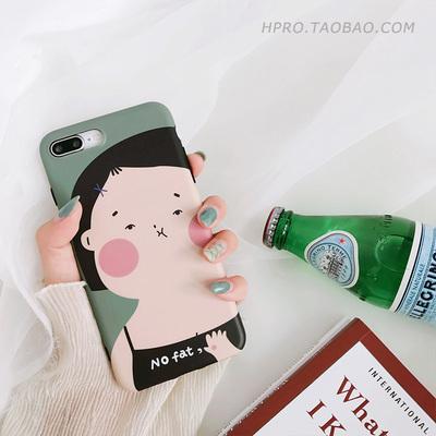 夏日女孩6splus苹果x手机壳iPhone7/8plus女款个性全包防摔硅胶潮