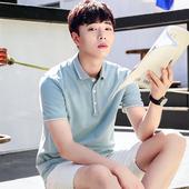 半袖 上衣 翻领POLO衫 男装 潮流韩版 2018夏季新款 短袖 男士 t恤修身图片