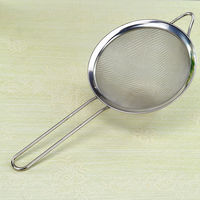 Stainless steel filter Soymilk colander Kitchen oil grid coffee shop powder sieve Milk tea filter juice drain residue