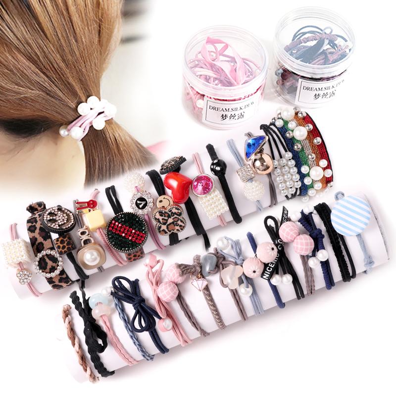 2019新款儿童扎头发的橡皮筋女高弹力韩国女童发圈头绳发饰不伤发
