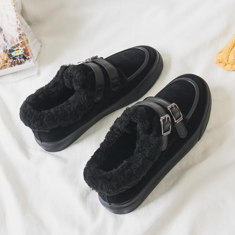 帆布鞋带扣女