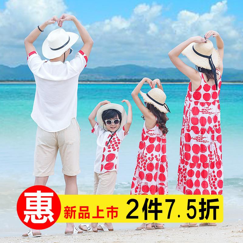 全家装亲子装母子沙滩装夏装2019洋气
