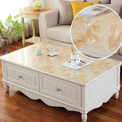 定制pvc透明桌布茶几桌布餐桌垫茶几垫桌布防水防烫油免洗长方形