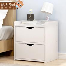 简约现代床头柜经济型收纳柜储物简易卧室置物柜柜子床边柜小柜子