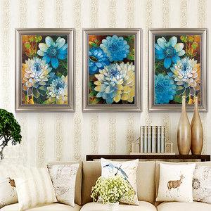 世玺简约现代客厅装饰画沙发背景墙挂画餐厅壁画三联画盛夏如花