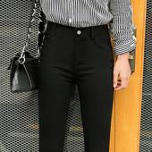 2018春季新款 冬高腰加绒小脚铅笔女裤 女外穿春秋薄款 黑色打底裤