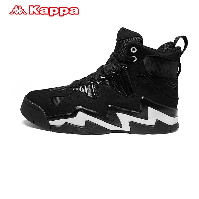 Kappa卡帕背靠背情侣男串标高帮板鞋运动鞋篮球鞋19新款K0955CC76